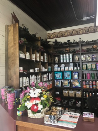 Make sure to check out our selection of cosmetic products, treats, and even YETI cups at our front desk.